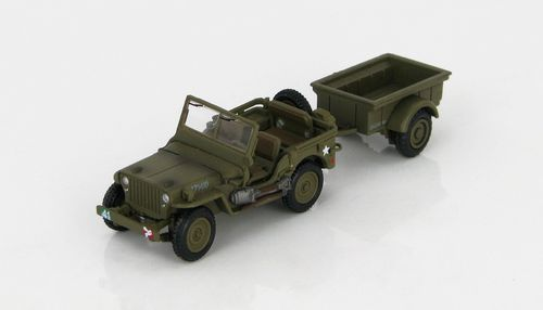 HG 4214 - Jeep Willys + remorque